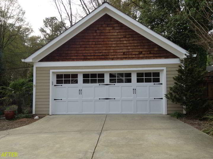 Garage Door Makeover Check Out These Before And After Garage Door