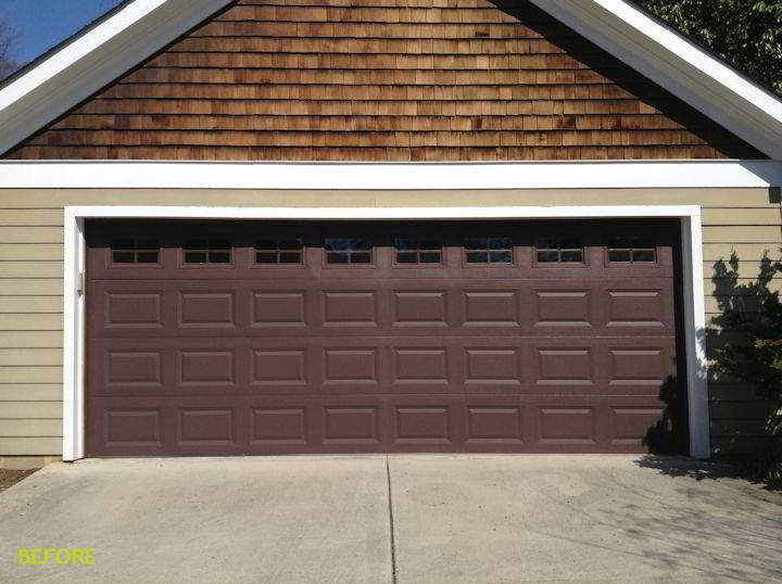 Charlotte garage door gallery before and after garage for Garage before and after photos